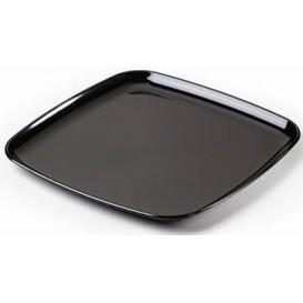 Plastic dienblad Vierkant Hard zwart 35x35cm (25 eenheden)