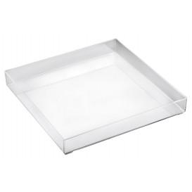 Plastic dienblad transparant 30x30cm (1 eenheid)