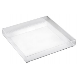 Plastic Tray Clear 30x30cm (1 Unit)