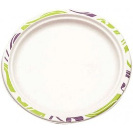 Paper Plate Wood Pulp Chinet Flavour 24 cm