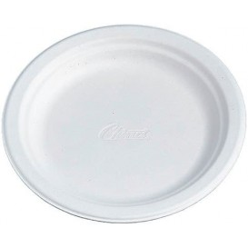 Paper Plate Wood Pulp Chinet White 24 cm