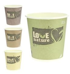 "Paper Cup PLA ""BioWare"" Eco-Friendly 4 Oz/120ml Ø6,2cm (80 Units)"