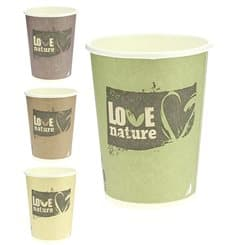 "Paper Cup PLA ""BioWare"" Eco-Friendly 9 Oz/270ml Ø8,0cm (50 Units)"