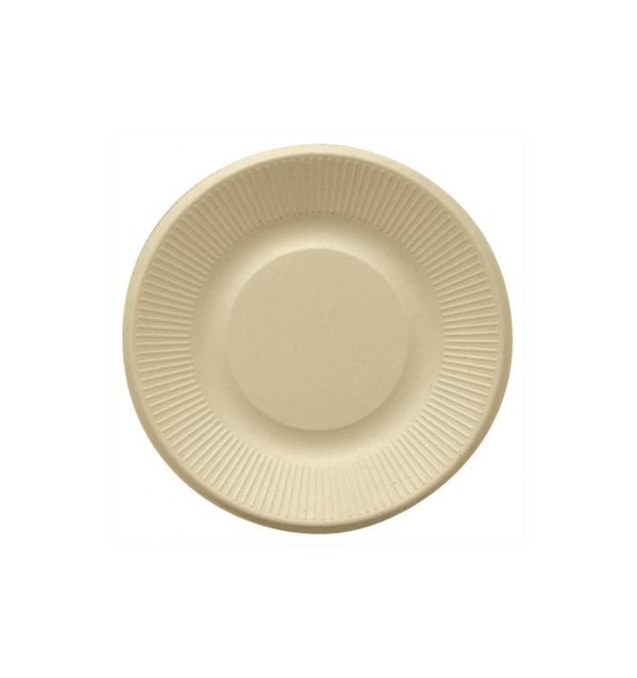 Sugarcane Plate Natural Ø21 cm (50 Units)