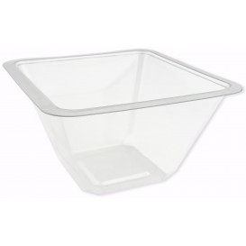 Plastic Bowl PET Heat sealable 375ml 12x12x7cm (50 Units)
