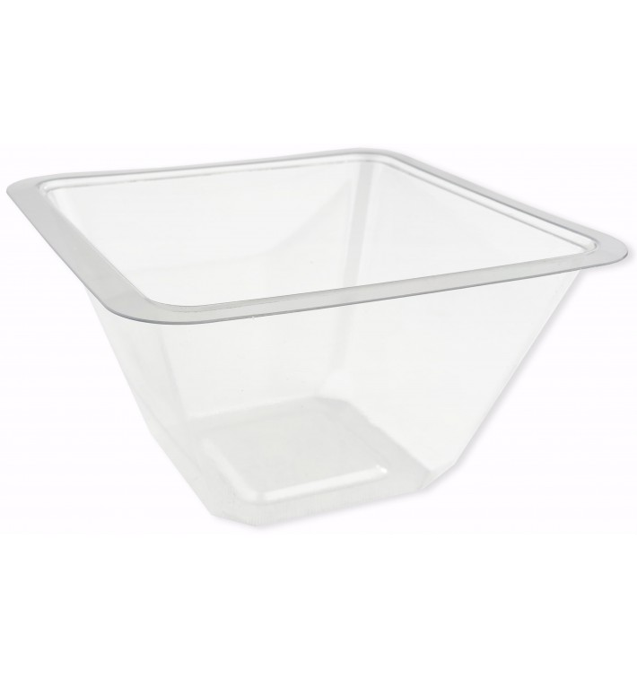 Plastic Bowl PET Heat sealable 375ml 12x12x7cm (50 Units)