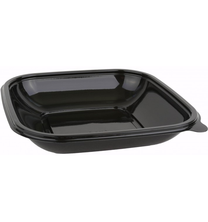 Plastic Bowl PET Black 500ml 17,5x17,5x4cm (50 Units)