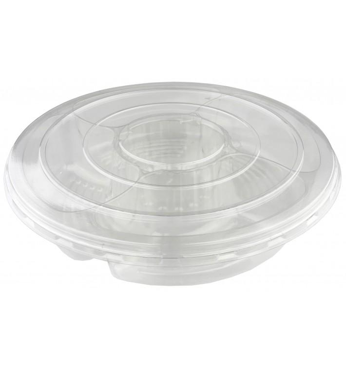 Plastic Bowl PET with Lid 5C Ø35x7cm (50 Units)