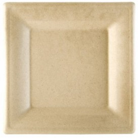 Sugarcane Plate Square shape Natural 16x16 cm (1000 Units)