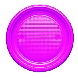 Plastic Plate PS Flat Fuchsia Ø17 cm (1100 Units)