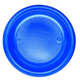 Plastic Plate PS Deep Dark Blue Ø22 cm (600 Units)