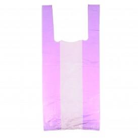 Plastic T-Shirt Bag Lilac 35x50cm (200 Units)