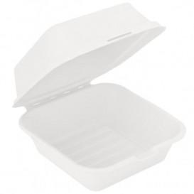 Sugarcane Burger Box White 152x152x84mm (50 Units)