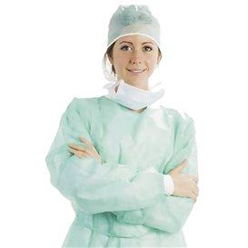 Disposable Lab Coat TST PP Tie Belt Back Closure Green XL (100 Units)