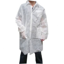 Disposable Lab Coat TST PP Velcro Pocket White XL (1 Unit)