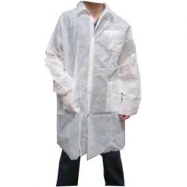 Disposable Lab Coat TST PP Velcro Pocket White XL (100 Units)