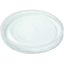 Plastic Lid rPET Crystal Closed Flat Ø4,5cm (250 Units)