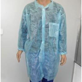 Disposable Lab Coat TST PP Velcro Pocket Blue XL (100 Units)
