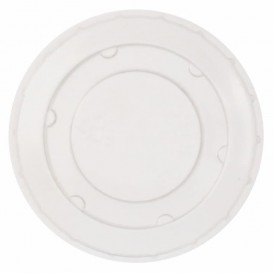 Plastic Lid PET Crystal Closed Flat Ø6,2cm (250 Units)