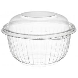 "Plastic Hinged Salad Bowl PET ""PresentaBowls"" High Dome Lid 475ml (300 Units)"