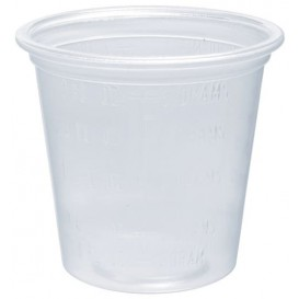 Plastic Souffle Cup PP Clear Graduated 35ml Ø4,8cm (125 Units)