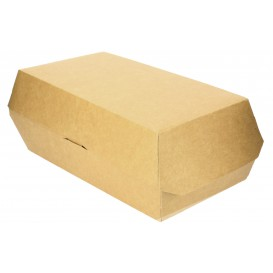 Sandwich Paper Container Kraft 20x10x8cm (25 Units)