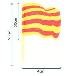 """Pinchos Banderita """"Cataluña"""" 65mm (144 Uds)"""