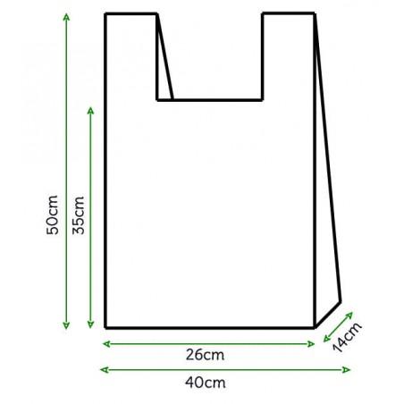 Bolsa Plastico Camiseta 40x50cm Blanca (200 Unidades)