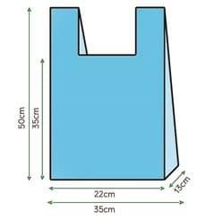 Bolsa Plastico Camiseta 35x50cm Azul (1000 Unidades)