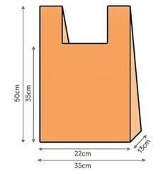 Bolsa Plastico Camiseta 35x50cm Naranja (1000 Unidades)