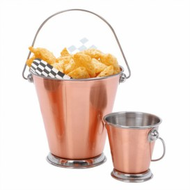 Serving Bucket Steel Copper Ø12x12cm (1 Unit)