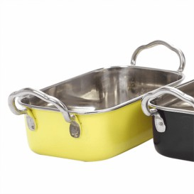 Serving Bucket Steel Yellow 14,5x9,5cm (6 Units)