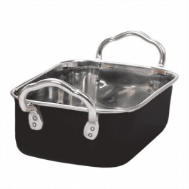 Serving Bucket Steel Black 14,5x9,5cm (6 Units)
