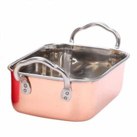 Serving Bucket Steel Copper 14,5x9,5cm (6 Units)
