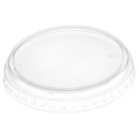 Plastic Lid PET Crystal Flat Ø9,5cm (112 Units)