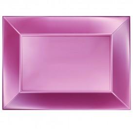 Bandeja Plastico Rosa Nice Pearl PP 345x230mm (6 Uds)