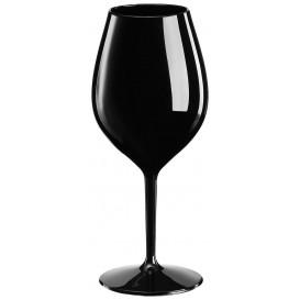 "Reusable Plastic Glass Wine ""Tritan"" Black 510ml (6 Units)"