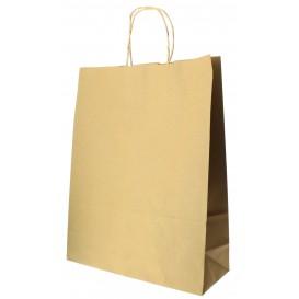 Paper Bag with Handles Kraft Hawanna 100g 32+12x41cm (200 Units)