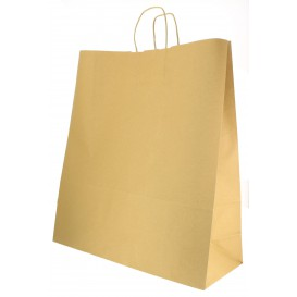 Paper Bag with Handles Kraft Hawanna 100g 46+16x49cm (50 Units)