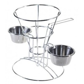 Display Basket Containers Steel 2 Cups Ø10,8x15,2cm (1 Unit)
