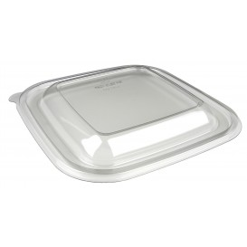 Plastic Lid for Bowl PET Heat Sealable de 12x12x7cm (50 Units)