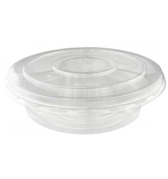 Plastic Bowl PET with Lid 4C Ø26x7cm (100 Units)