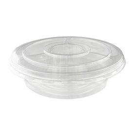Plastic Bowl PET with Lid 5C Ø26x7cm (100 Units)