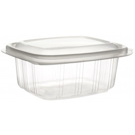 Plastic Hinged Deli Container Microwavable PP High Dome Lid 250ml (900 Units)