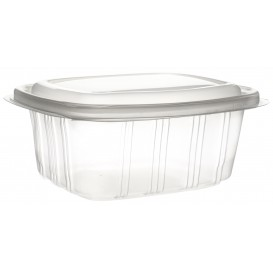 Plastic Hinged Deli Container Microwavable PP High Dome Lid 750ml (50 Units)