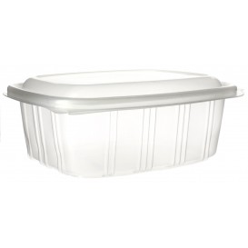 Plastic Hinged Deli Container Microwavable PP High Dome Lid 1000ml (350 Units)