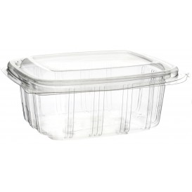 Plastic Hinged Deli Container OPS High Dome Lid 250ml (900 Units)