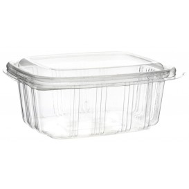 Plastic Hinged Deli Container OPS High Dome Lid 370ml (900 Units)