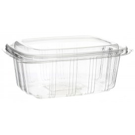 Plastic Hinged Deli Container OPS High Dome Lid 500ml (750 Units)