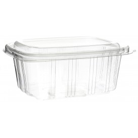 Plastic Hinged Deli Container OPS High Dome Lid 750ml (50 Units)
